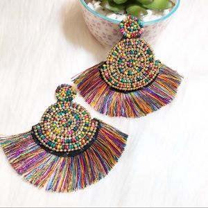 New hand crafted thread tassel earrings